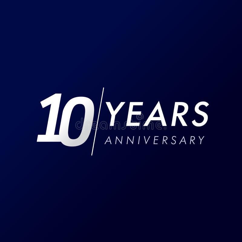 10 rok rocznic, od 2009 ilustracja wektor