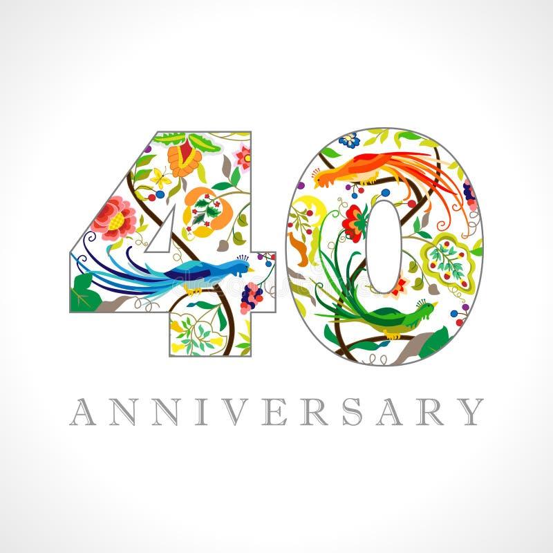 40 rok rocznica logo ilustracji