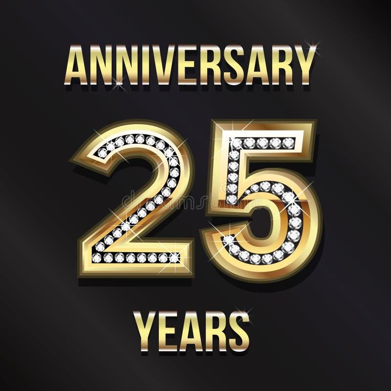 25 rok Rocznicowego Karcianego projekta 10 tło projekta eps techniki wektor ilustracji