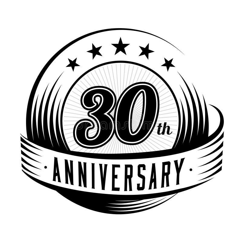 30 rok rocznicowego projekta szablonu 30th rocznicowy odświętność logo projekt 30years logo ilustracji