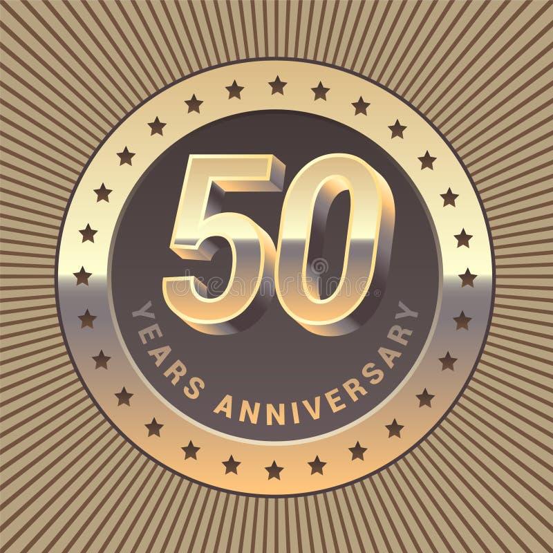 50 rok rocznicowej wektorowej ikony, logo royalty ilustracja