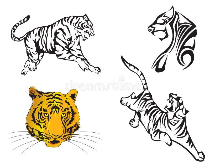 rok tygrysi zodiak royalty ilustracja