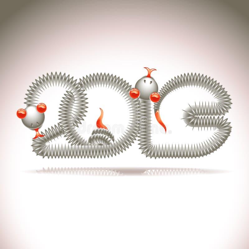 Rok wąż ilustracja wektor