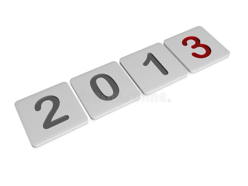 Rok w biały pastylkach 2013 royalty ilustracja