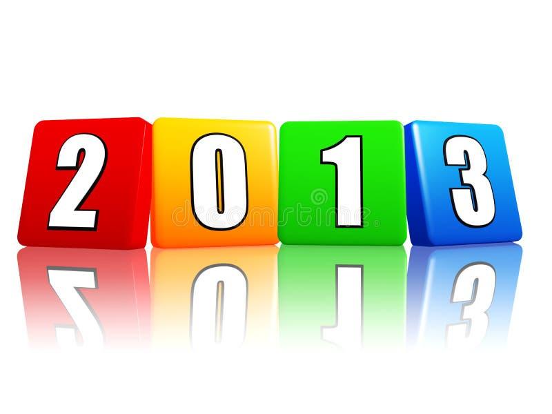 Rok w kolorów sześcianach 2013 royalty ilustracja