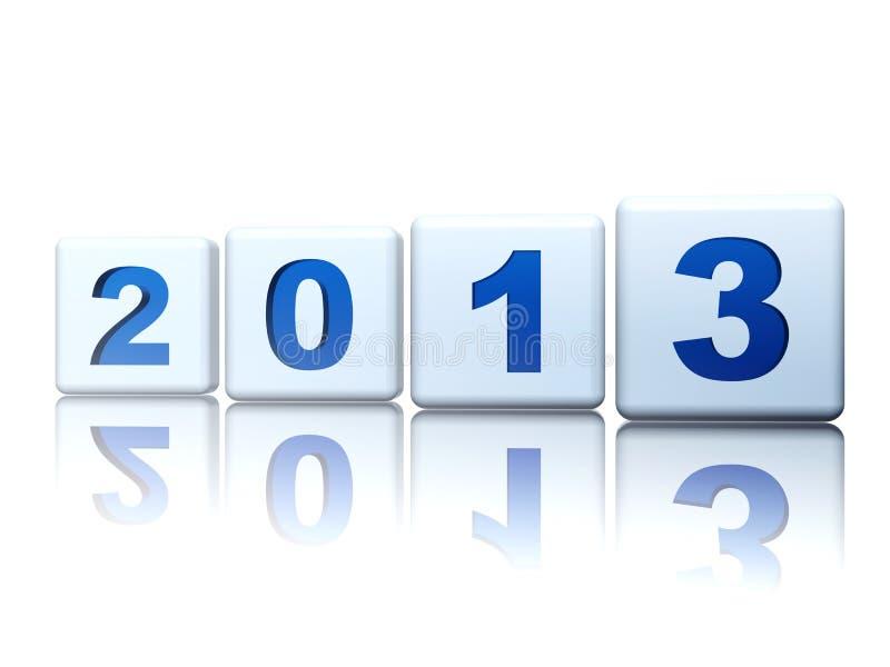 Rok w sześcianach 2013 ilustracji