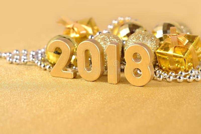 2018 rok złote postacie obraz royalty free