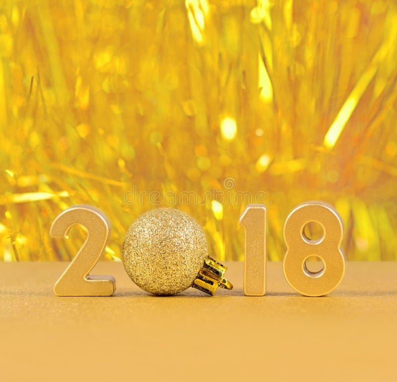 2018 rok złote postacie obraz stock