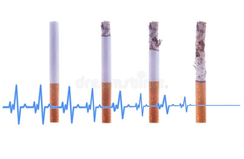 Roken is dodelijk aan gezondheid Doden zelf of opgehouden met rokend concept Wereld Geen Tabaksdag royalty-vrije stock afbeelding