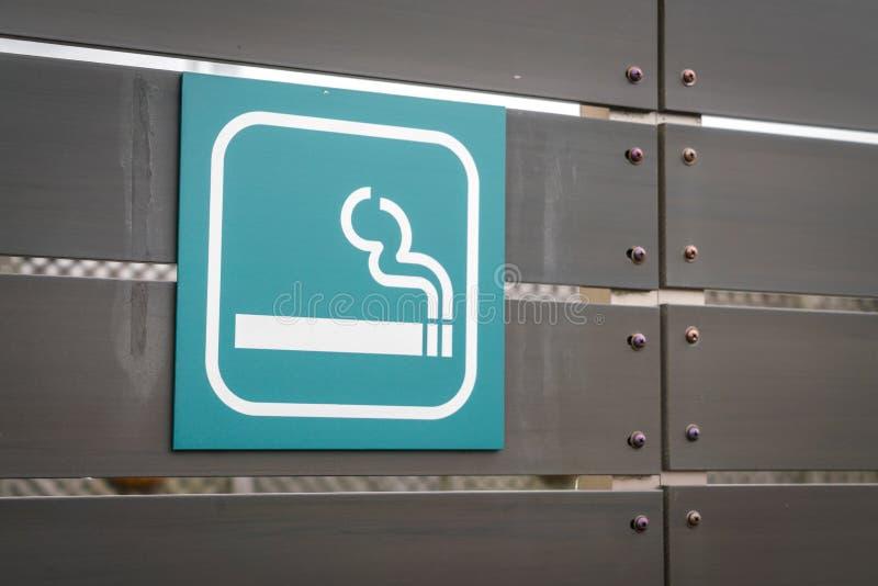 Rokend gebiedsteken stock fotografie
