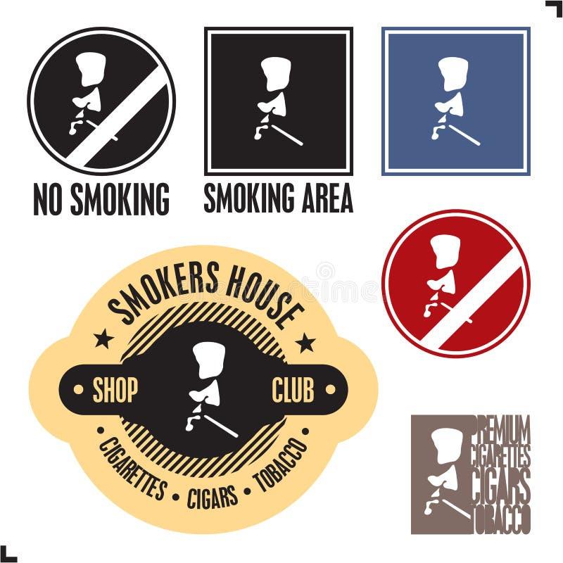 Rokend gebiedsteken. Nr - rokend teken. stock illustratie