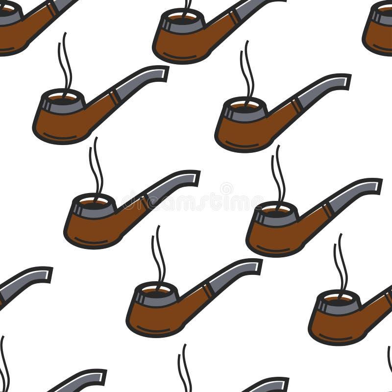 Rokend het punt naadloos patroon van pijpsherlock holmes royalty-vrije illustratie