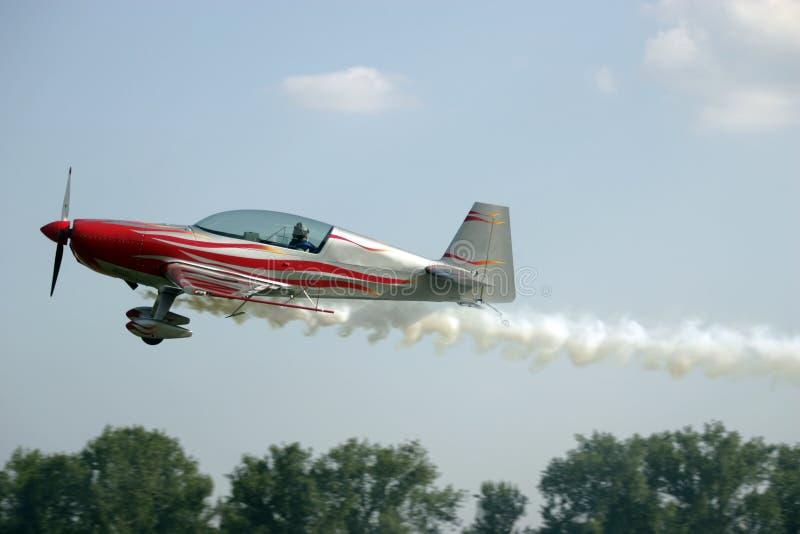 Rokende vliegtuigen royalty-vrije stock afbeeldingen