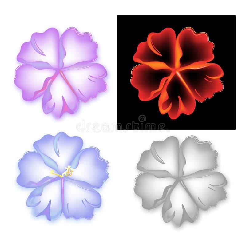 Rokerige patroonbloem vijf bloemblaadjereeks stock illustratie