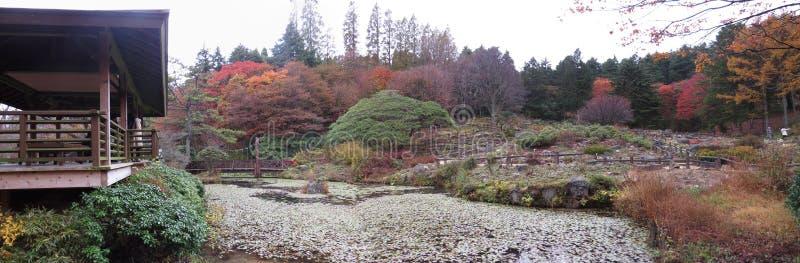 Rokko高山庭院,神户,日本 库存照片