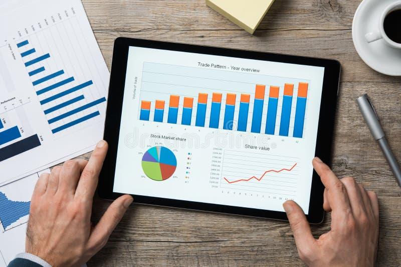 Roku finansowego przegląd obraz stock