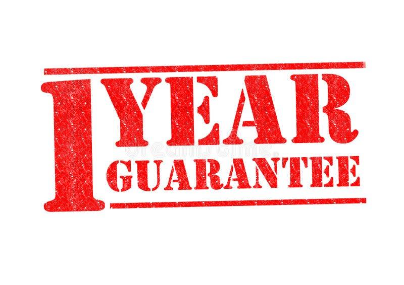 1 roku gwarancja fotografia stock