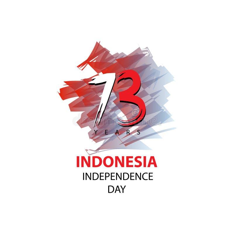 73 roku Indonezyjski dnia niepodległości pojęcie ilustracji