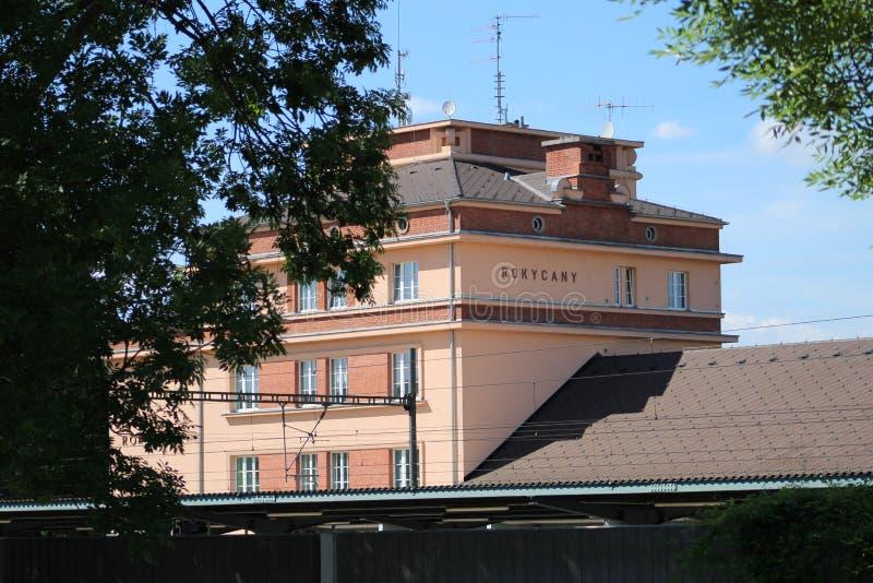Rokycany火车站 库存照片