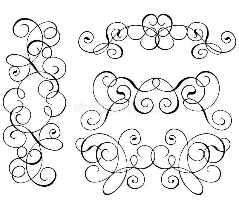 Rol, cartouche, decor, vector stock illustratie
