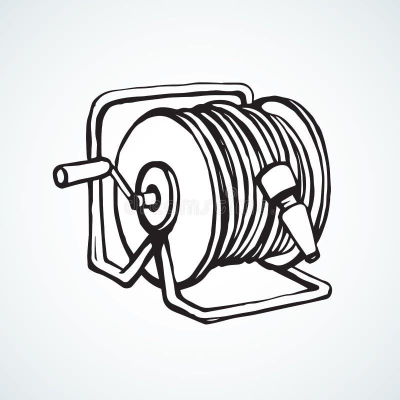 Rol de slang Vector tekening vector illustratie