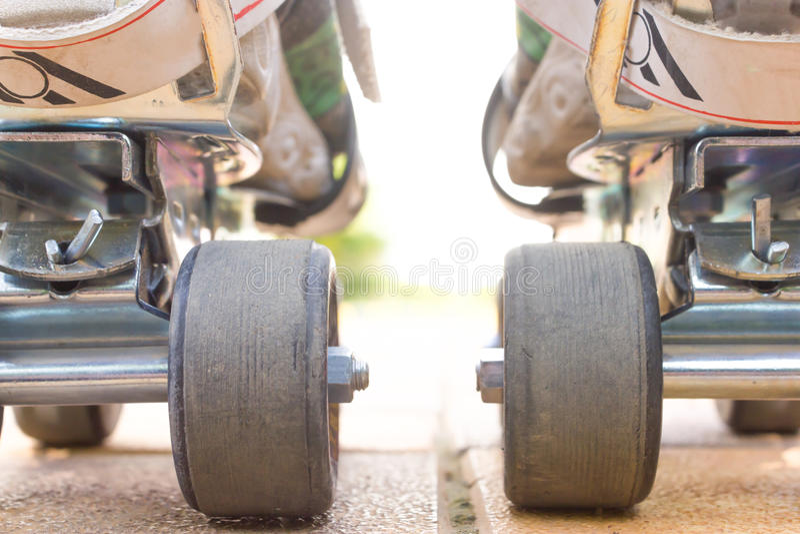 Rol het Schaatsen close-upmening van rug stock foto's