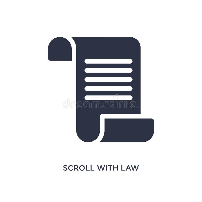 rol met wetspictogram op witte achtergrond Eenvoudige elementenillustratie van wet en rechtvaardigheidsconcept royalty-vrije illustratie