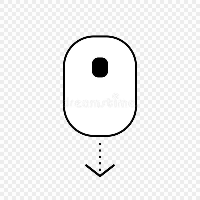 Rol onderaan het pictogram van de computermuis royalty-vrije illustratie