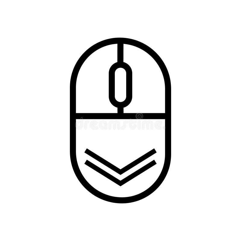Rol onderaan pictogram Vector het scrollen muissymbmol voor geïsoleerd Webontwerp stock illustratie