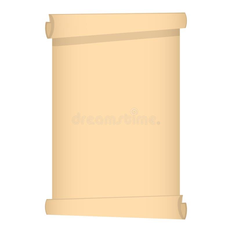 Rol van papyrus op een witte achtergrond voor Uw Ontwerp, Spel, Kaart Vector illustratie stock illustratie