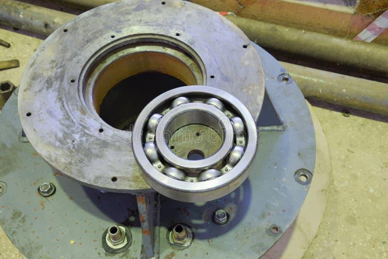 Rolamento da fricção Detalhe de um motor bonde assíncrono fotografia de stock royalty free