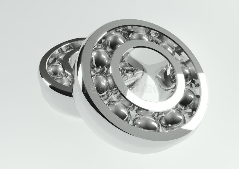 Rolamento de esferas do cromo ilustração do vetor