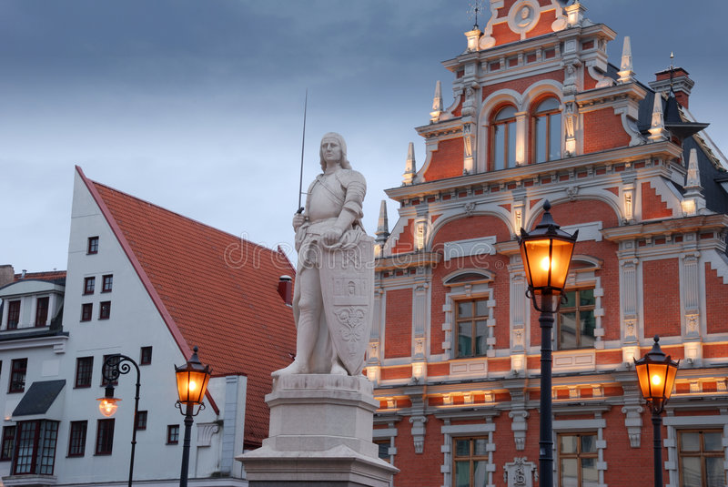 Download Roland. stock image. Image of latvia, evening, architecture - 6831465