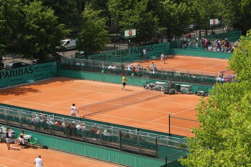 Roland Garros 2010 - cours image libre de droits