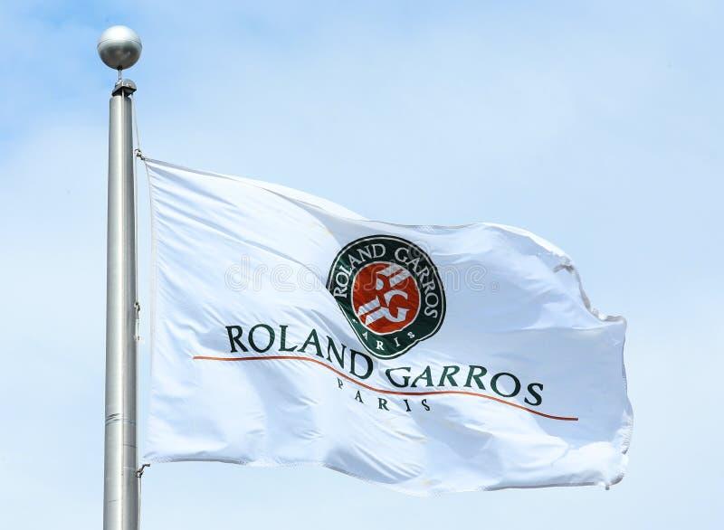 Roland Garros flaga zdjęcia royalty free