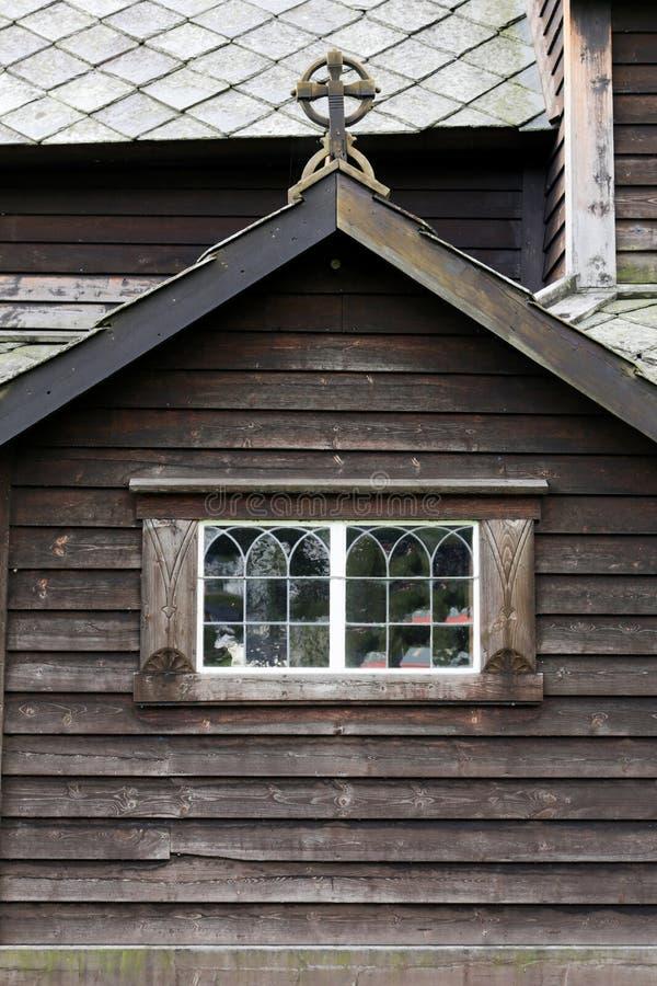 Roldal梯级教会 免版税库存照片