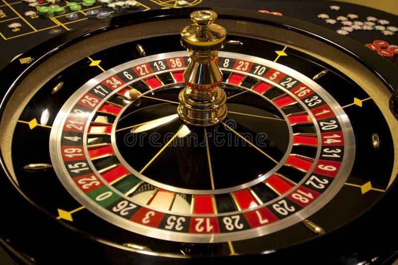 roleta de giro no casino foto de stock