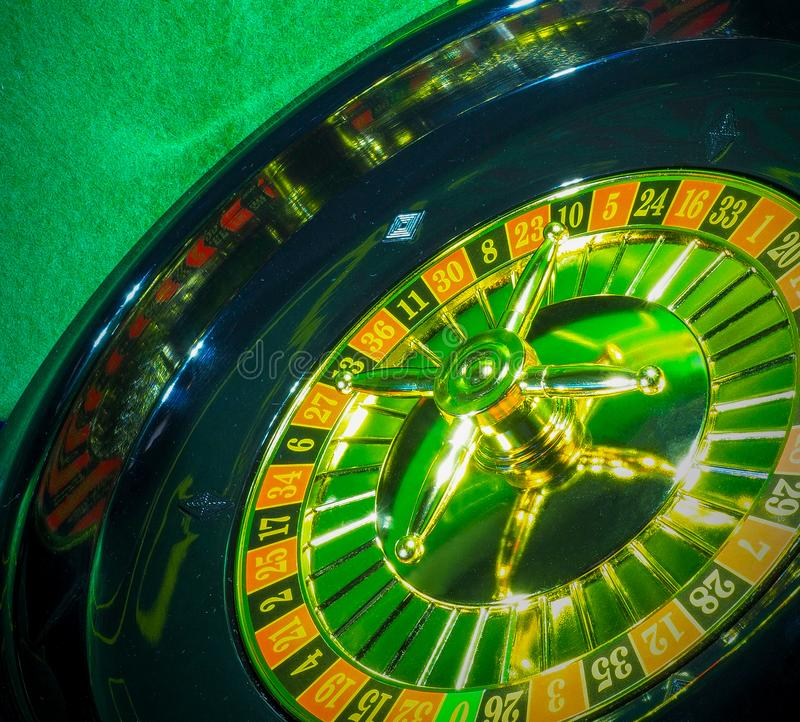 Roleta de jogo do disco foto de stock