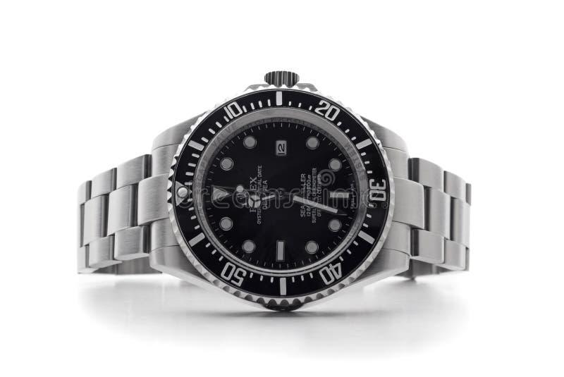 ROLEX-Armbanduhr stockbilder