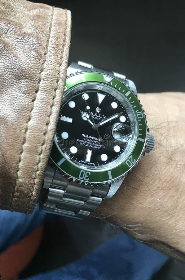 Rolex cher observent photo libre de droits