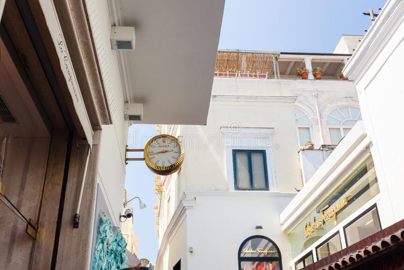 ROLEX clock outdoors, Capri stock photography