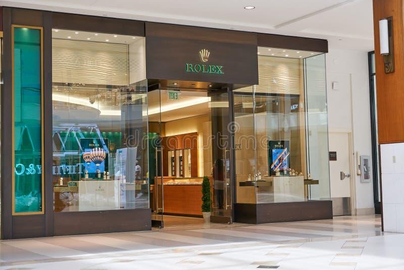 Rolex famous boutique. stock photo