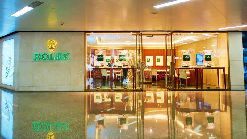 Rolex guarda il negozio fronteggiare fotografie stock libere da diritti