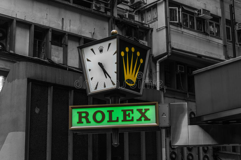 Rolex immagazzina e firma fotografie stock