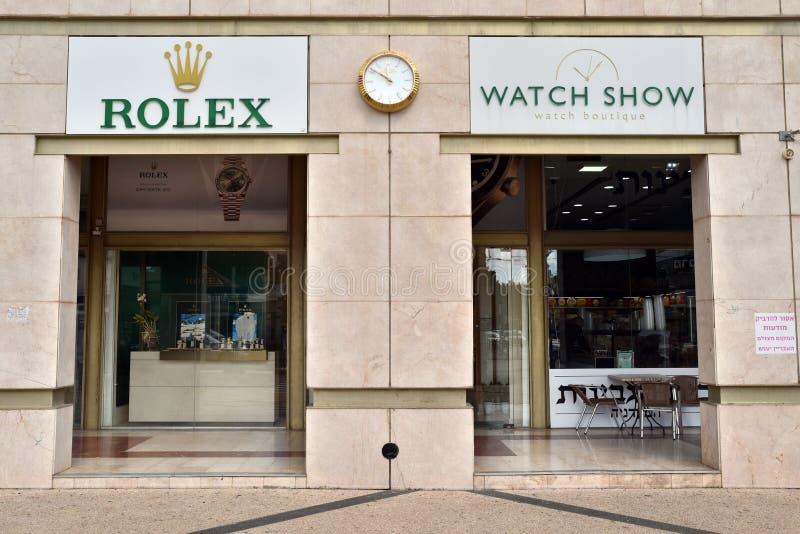 Rolex Ogl?da butika obraz stock