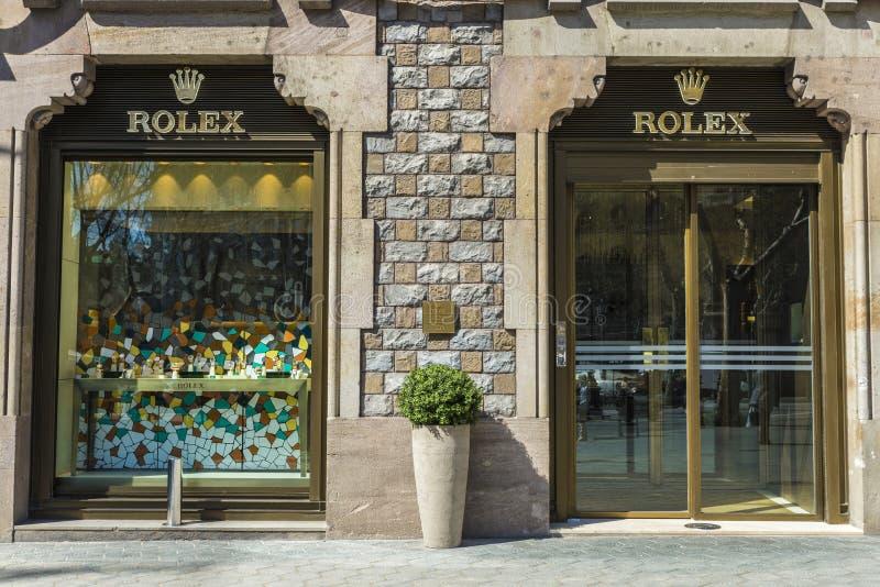 Rolex shoppar, Barcelona fotografering för bildbyråer