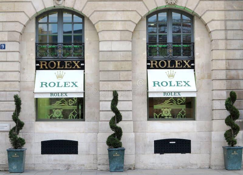 Rolex lyxboutique arkivbild