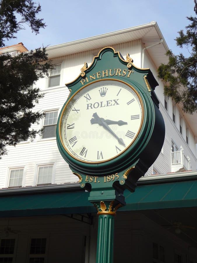 Rolex stoppen bei Carolina Hotel in Pinehurst, North Carolina ab stockbild