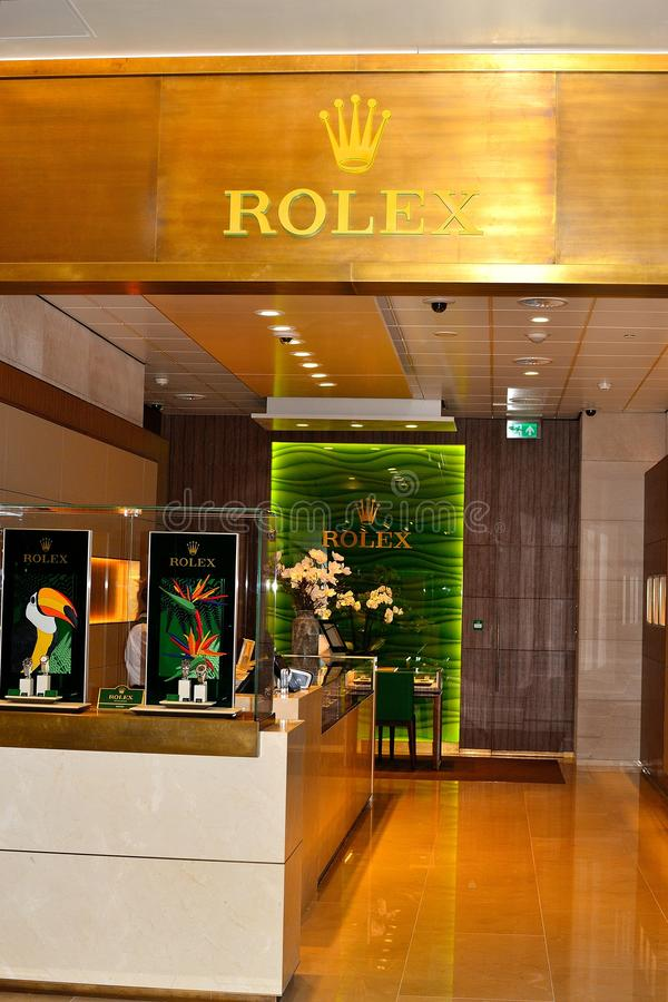 rolex store in Schiphol airport, Holland royalty free stock photo