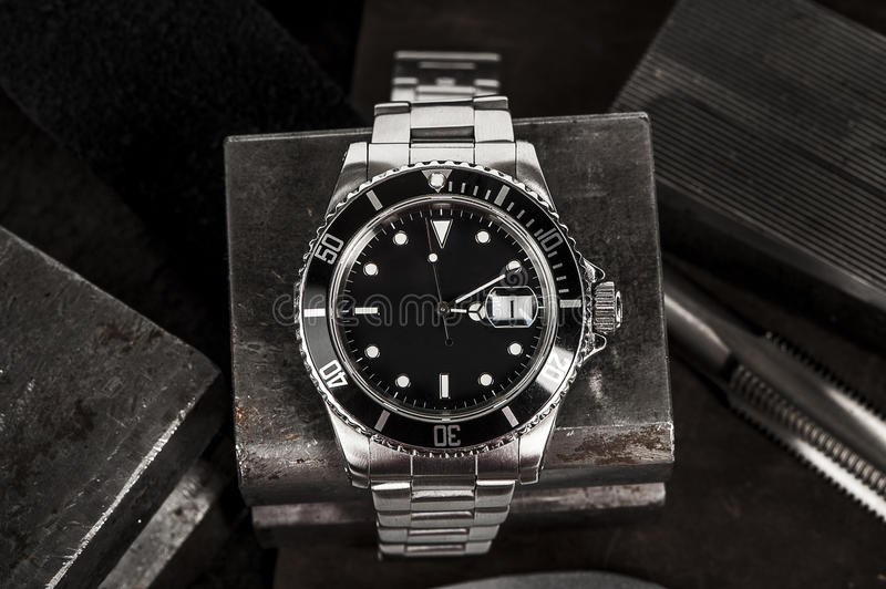 Download Rolex Submariner Watch stock photo. Image of black, dial - 85880140